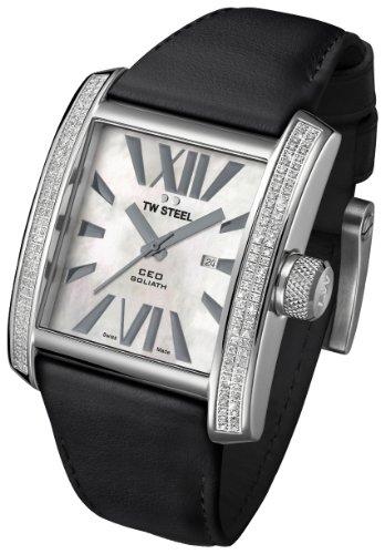 TW Steel - CE3015 - Montre Mixte - Quartz Analogique - Bracelet Cuir Noir