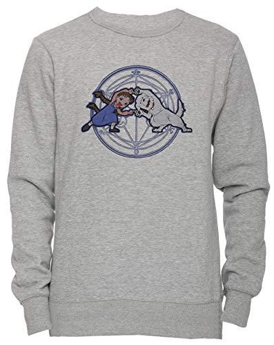 Erido Vollmetall Verschmelzung Ha! Unisex Herren Damen Jumper Sweatshirt Pullover Grau Größe M Men's Women's Grey Medium Size M Chimera Medium Video
