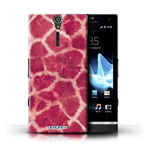 Kobalt® Imprimé Etui / Coque pour Sony Xperia S/LT26i / Pourpre conception / Série Girafe animale Peau/Motif Rose