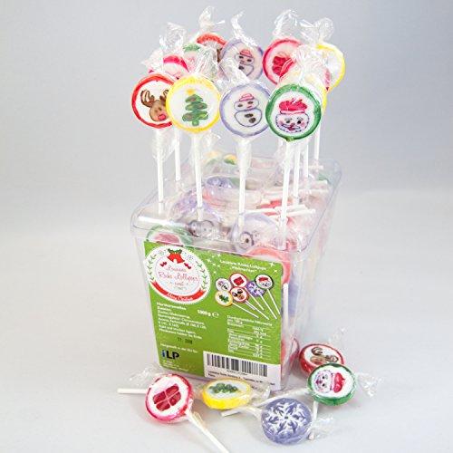 Louisiana Rocks Bonbons X-Mas Geburtstag 100 Lollipos 1.000g im praktischen Display als süße Tischdeko (Zucker Damen-rock)