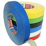 Cinta adhesiva de colores de Tesa 4651Premium, con anchuras diferentes, Azul