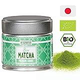 BIO Matcha Pulver - Premium Qualität | Dein neuer Energie-, Fokus-, Antioxidantien- und Stoffwechsel Booster | Authentisch und Original aus Japan | blitzschnell zubereitet als Matcha Tee oder Latte