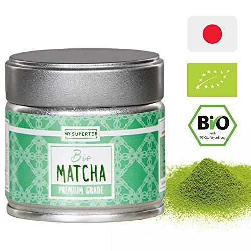 BIO Matcha Pulver – Premium Qualität | Dein neuer Energie-, Fokus-, Antioxidantien- und Stoffwechsel Booster | Authentisch und Original aus Japan | blitzschnell zubereitet als Matcha Tee oder Latte