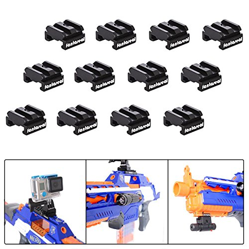 Fantaseal Picatinny Gun Rail Halterung Aluminium Airsoft Action Kamera Adapter für GoPro Airsoft Halterung Adapter Jagd Schrotflinte Actioncam Befestigung GoPro Jagdgewehr Halterung Air Soft Kamera Halter Jagdgewehr Kamera Zubehör Carbine Gun Kamerahalterung für Airsoft AR-15 M4 M16 fit für GoPro Hero5 / Hero5 Session / Hero 4 / Hero4 Session / Hero3+ / Hero3 + SJCAM Garmin Virb Xiaomi Yi DBPOWER Qumox Vic Tsing + GoPro ähnliche Actioncam