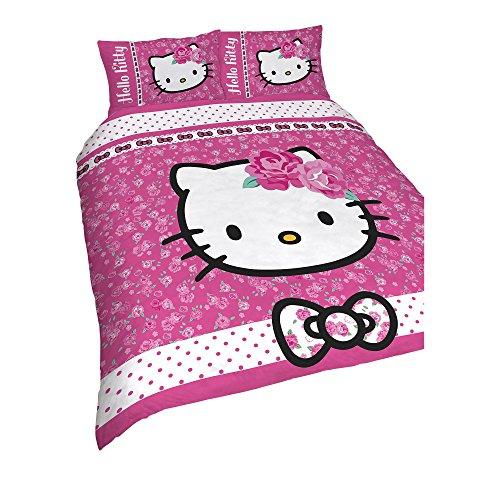 Hello Kitty Kinder/Mädchen Wende Bettwäsche Sommerwind (Doppelbett) (Pink)