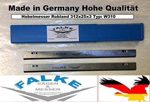 Preisvergleich Produktbild 6 Stück Hobelmesser Robland 312x25x3 Typ: W310