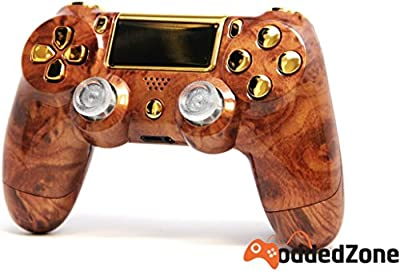 """Hard Wood"" Ps4 Rapid Fire Custom Modded Controller 35 Mods COD BO3, Advanced Warfare, Destiny, Ghosts Quick Scope Auto Run Sniper Breath and More"