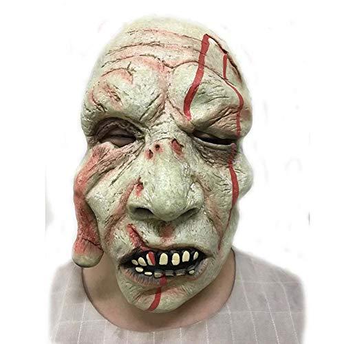BRG315 Halloween Ghost Festival Horror Maske, Walking Dead Vollkopf Maske, Resident Evil Monster Maske, Cosplay Zombie Kostüm Party Gummi Latex Maske
