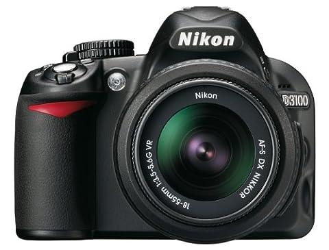 Nikon D3100 SLR-Digitalkamera (14 Megapixel, Live View, Full-HD-Videofunktion) Kit inkl. AF-S DX 18-55 mm VR Objektiv + 55-200 mm VR