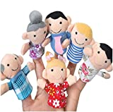 Scrox 6pcs Marionetas de Mano Mi Familia Teatro de Marionetas Muñecas Peluches para Bebes Creativo Juegos educativos Cuentos Infantiles