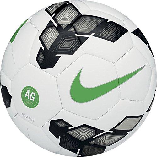 Nike, Pallone da calcio AG Duro, Bianco (White/Anthracite/Green), 5
