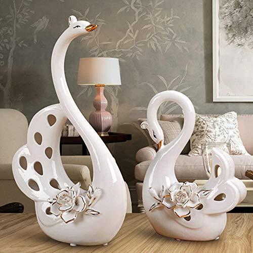 Creativo europeo de florero adornos decorativos Home living TV gabinete, gabinete del vino, porche decoraciones, ceramica de artesania en Cisnes