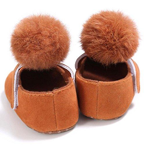 Babyschuhe Longra Kleinkind Baby Mädchen Krippe Schuhe Neugeborenen weiche Sohle Anti-Rutsch Sneakers Stoff Lauflernschuhe Krippeschuhe für Baby (0 ~ 18 Monate) Brown