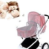 Aolvo Premium Infant Baby zanzariera per passeggino pieghevole per bambino zanzariera universale misura portatile e durevole passeggini completo di maglia per culle/seggiolini auto/Bassinets/vettori/Box