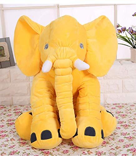 lzpoyaya Baby Krippe Elefant Plüschtier, weiche Kuscheltiere Puppen, Neugeborenen Kissen Kissen, Bettwäsche für Kinder Spielzeug 1 Stück (gelb) 28X33 cm (Grau Bettwäsche Krippe Gelb)