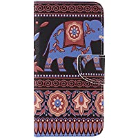 Nancen Galaxy J7 2016 / SM-J710 (5,5 Zoll) Handy Lederhülle, Flip Case Wallet Cover with Stand Function, Folio Bookstyle Handytasche Soft Silikon Bunte Muster Tasche PU Leder Slim Shell Handyhülle.