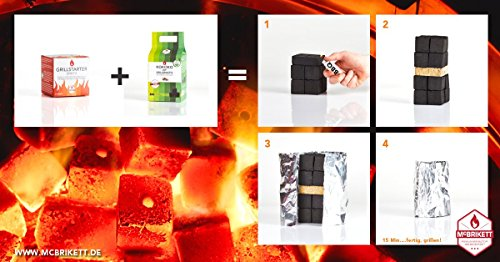 51F6 KCs fL - McBrikett GRILLSTARTER BRIKETTS 3er Pack
