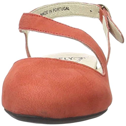FLY London Mega905, Ballerines Femme Rouge (Scarlet 002)