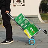 VDNSI Folding Stainless Steel Hand Truck, Portable Luggage Trolley Dolly Hand Cart Trolley