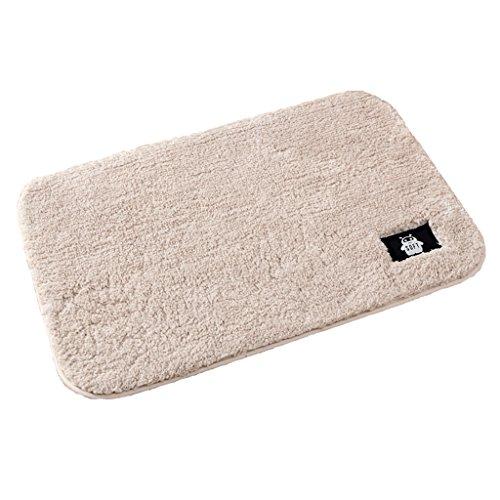 Beige Fliesen-böden Legen (J&X Fußmatten Eingangstüren Badezimmertüren Home Osmanen Badezimmer Fußmatten Badezimmer Wasserabsorbierende Teppiche Beige)