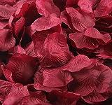 TaoNaisi 4000bordeaux seta artificiale petali di rosa matrimonio cerimonia fiore Scatter tabelle Decorations Bulk Supplies all' ingrosso