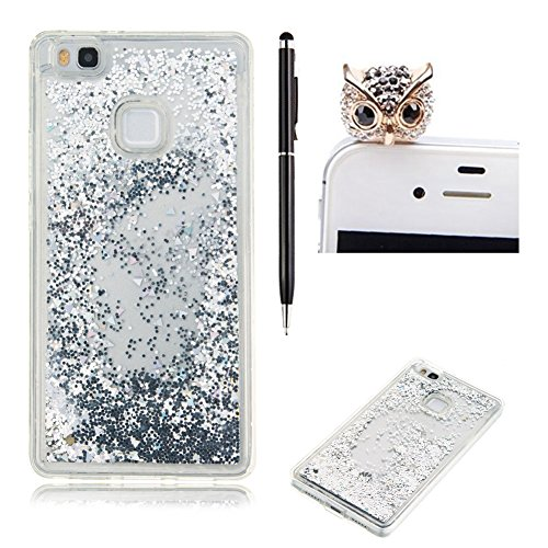 huawei-p9-lite-casehuawei-p9-lite-coverskyxd-novelty-design-fashion-flowing-liquid-floating-silver-p