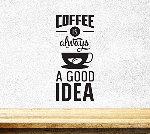 Kaffee Gut Idee Cup Kitchen Wandaufkleber Vinyl Aufkleber Art Pub-Café-Dekor
