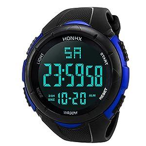 Herren Uhren, BBring HONHX Männer Jungen Sport Wasserdicht LED Digital Stoppuhr Datum Silikon Armbanduhr