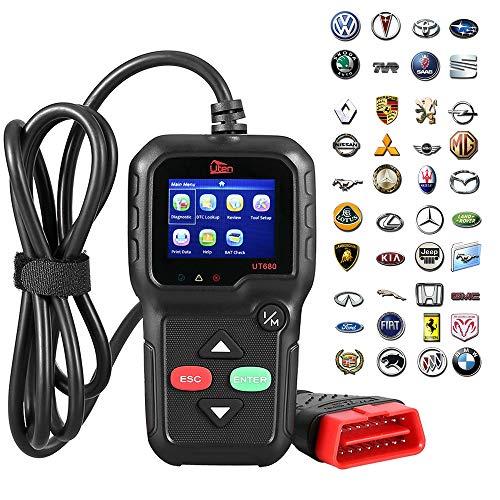 OBD2 Diagnosi per Auto Mbuynow OBD2 Scanner, Uten Fault Readout Dispositivo di lettura auto con display a colori da 2,8 pollici, Extra BAT Check, sensore O2, test di monitoraggio a bordo 16 pin interfaccia OBD