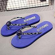 LJLLINGA Sagace Women'S Slippers 2019 Summer Beach Casual Shoes Roma Flower Flat Anti-Slip Slipper Flip Fl