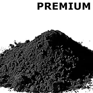 @tec Premium Pigmentpulver, Eisenoxid, Oxidfarbe - 1kg Farbpigmente/Trockenfarbe für Beton + Wand - Farbe: schwarz