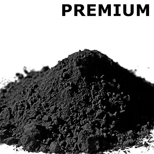 farbpulver @tec Premium Pigmentpulver, Eisenoxid, Oxidfarbe - 1kg Farbpigmente/Trockenfarbe für Beton + Wand - Farbe: schwarz