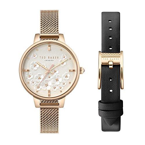 Ted Baker Reloj Analógico para Mujer de Cuarzo con Correa en Acero Inoxidable TE50070012
