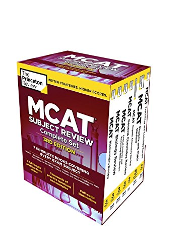 The Princeton Review MCAT Subject Review Complete Box Set, 3rd Edition: 7 Complete Books + 3 Online Practice Tests (Graduate School Test Preparation) (Princeton Mcat Prep)