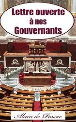Lettre Ouverte à Nos Gouvernants