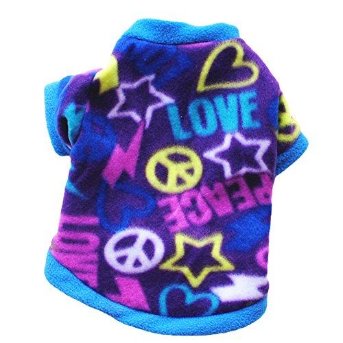 Erwachsene Kostüm Männliche Für Lustige - CricTeQleap Mode Welpen Haustier Kleidung Multicolor Faux SAMT Pullover Cute Pullover Hund Bekleidung Kostüm Blue L
