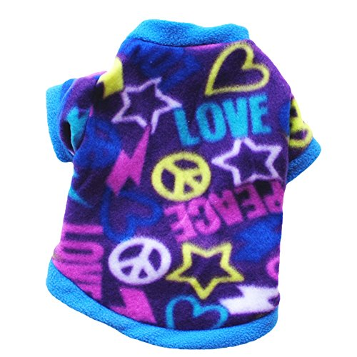 CricTeQleap Mode Welpen Haustier Kleidung Multicolor Faux SAMT Pullover Cute Pullover Hund Bekleidung Kostüm Blue ()