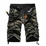 Internet-Herren Shorts Herren, Hose Shorts Kurzhose Jogg Freizeitshorts Sportshorts Knielang Kurze Hose Bermuda Sweatshorts Jogginghose Slim fit Stretch Casual Jeans Shorts (34, Gelb)