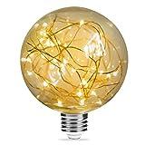 TECHGOMADE LED G95 Glühbirne, E27, 3000 K, Warmweiß, 2 W [entspricht 20 W Halogenlampe] Retro-Feuerwerk Dekorative Vintage Lampe, 200 lm, für Hängeleuchte Dekoration Innenbereich, 1 Packung