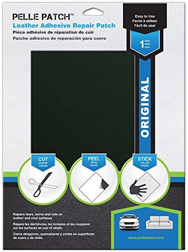 Pelle Patch - Selbstklebender Reparaturflicken für Leder und Vinyl - In 25 Farben erhältlich - Original 28cm x 41cm - Dunkelgrau