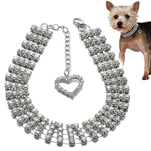 bbeart® Hundehalsband, kleine Hunde/Welpen Halsband Bling Bling Fancy Strass Schmuck Halskette Halsbänder für Katzen kleine Hunde/Welpen