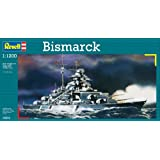 Revell Bismarck 1:1200 Naval ship Assembly kit - maquetas de barcos, botes y submarinos (1:1200, Naval ship, Bismarck, Assembly kit, Pre-intermediate, De plástico)