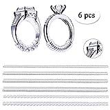 Eizur Ring Size Adjuster, Riduttori per anelli, Strumenti per creazione, Gioielli Stringi Anelli, confezione da 6, perfettamente l'anello al tuo dito, da 1.2 mm e da 2.5 mm