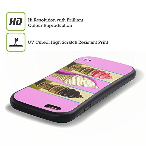 Ufficiale Howie Green Cupcake Cosmico Cibo E Bevande Case Ibrida per Apple iPhone 7 Plus / 8 Plus Coni Pop