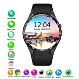 Four Smart Watch, Bluetooth Smart Watch Herren Smart Watch mit Herzfrequenz-Monitor-Musik-Kamera-Pedometer echte Touchscreen-Handy-Uhr