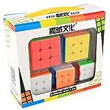 OJIN MoYu MOFANGJIAOSHI Cubing Classroom MFJS 3x3 Velocidad Magic Cube 5 Pack Set Colección de Mini 3x3x3 Cubos con Llavero (sin Etiqueta)