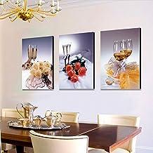 Cuadros decorativos para comedor Cuadros tripticos modernos para comedor