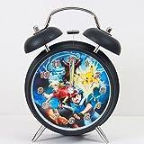 Student horloge motif pokémon pikachu créative cartoon tacite metallglocke lampes de nuit cadeau de noël réveil réveil numérique analogique-réveil simulateur d'aube (style b)