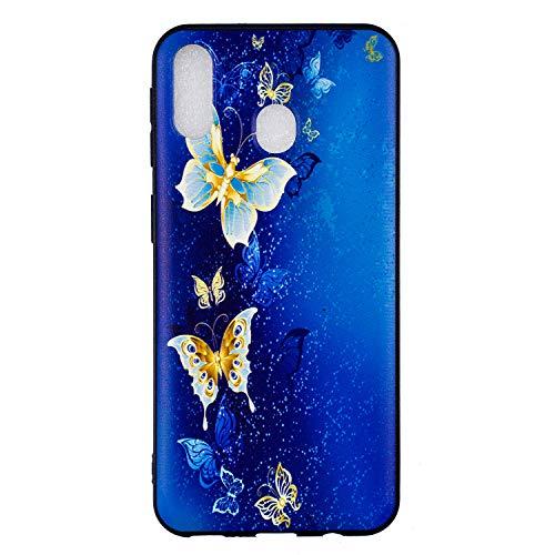 Ultra Dünn Slim Soft Flexible für Samsung A50,Weiche TPU Silikon Gel Kreative icht Durchsichtiges Klar Transparent Anti-Rutsch Flower Cartoon Gomma Schutz Handy Hülle Tasche Etui Bumper