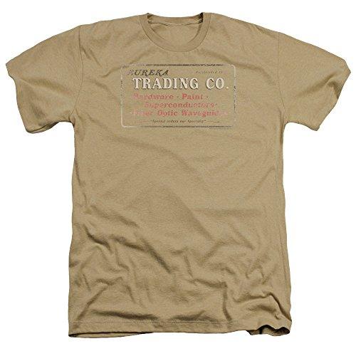 Trevco Herren Eureka Trading Heather Adult T-Shirt, Sand, Groß -